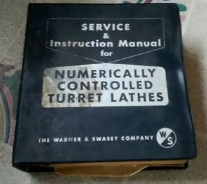 Warner Swasey Sc 13 15 4 Axus Nc Turret Lathes Service Manual