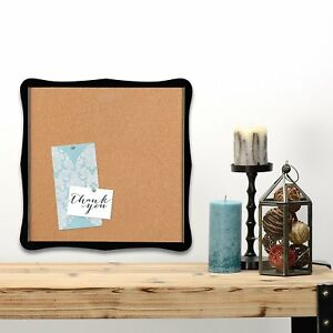 Quartet Bulletin Board Cork 14 X 14 Home Organization Black Frame 50722