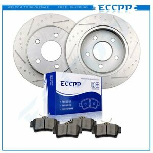 Fits 1994 2004 Ford Mustang Base Gt 2wd 2x Rear Brake Rotors 4x Ceramic Pads