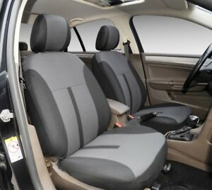 A161 2 Tone Gray Poly Fabric Two Front Bucket Car Seat Cover For Toyota Tacoma