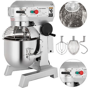 15l Kitchen Electric Food Stand Mixer With 3 Speed Stainless Steel Bowl