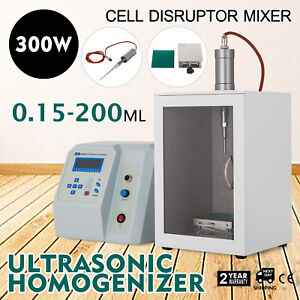 Ultrasonic Homogenizer Solutions Disruptor Mixer 0 15 200ml Ce 300 W
