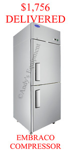Double Split Top And Bottom 2 Door Commercial Store Restaurant Refrigerator Nsf