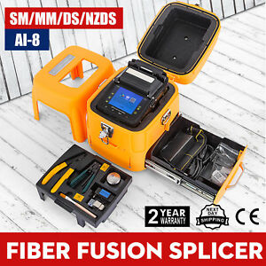 Ai 8 Fiber Optic Splicing Machine Fiber Fusion Splicer Ribbon Automatic Kits