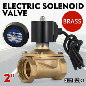 Vevor 2 Brass Electric Solenoid Valve 12v Dc Normally Closed Water Air Oil
