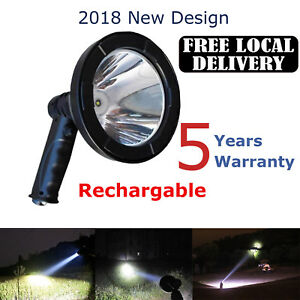 New Super Bright Rechargeable Led Searchlight Handheld Portable Spotlight Work