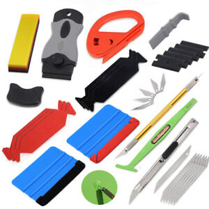 Car Film Wrapping Tools Vinyl Squeegee Turbo Scraper Window Tint Application Usa