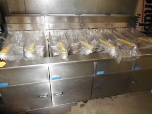 Used Pitco sg18 65lbs Fryer 4 tanks With Filter Natural Gas