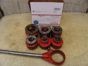 Ridgid 12r 1 2 To 2 Inch Pipe Threader Die Set For 300 700 Great Shape 5