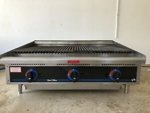 Gas Grill Star max Counter Top 36in Lava Rock Gas Charbroiler