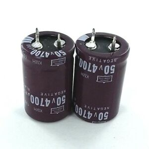 4700uf 50v 2x Electrolytic Capacitors 50v 4700uf Volume 22x35 Mm