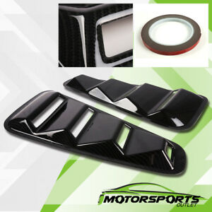Carbon Fiber Style Side Windows Louvers Scoop Pair For 2005 2014 Ford Mustang