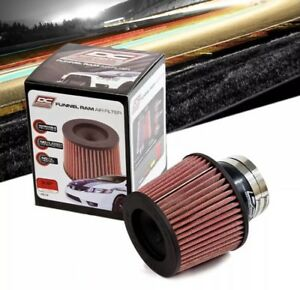 Dc Sports 3 5 Red Round Dry Universal Shortram Cold Air Intake Air Filter
