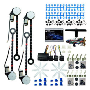 Universal 4 Door Car Truck Electric Power Window Conversion Kit Roll Up Switches