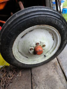 Allis Chalmers B c ca Tractor And Other Models Front Tire And Rim