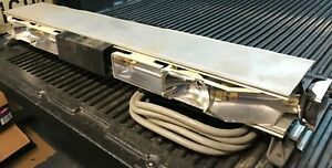 Whelen Edge 9000 8 Strobe halogen Light Bar Tested Working Good Shape Loaded
