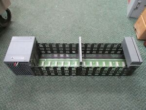 Allen bradley Slc 500 13 slot Rack W Power Supply 1746 a13 1746 p4 Used