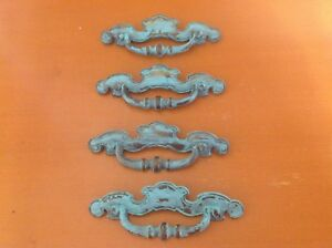 347 Vintage French Provincial Pulls In A Turquoise Shabby Chic 4 Available
