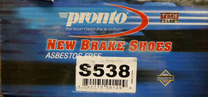 Brand New Pronto Rear Brake Shoes S538 538 Fits Vehicles Listed On Chart