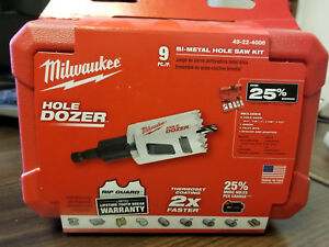 Milwaukee Hole Dozer 9 Piece Bi metal Hole Saw Kit 49 22 4006