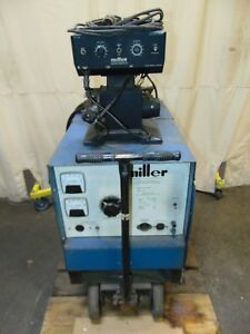 Miller Electric Dc Arc Mig Welder Power Supply And Wire Feeder 300 Amp S 54e