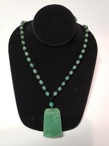 0027 Old Chinese Stone Jade Is Hand Carved Natural Green Jade