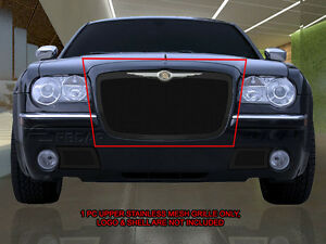 Stainless Steel Black Mesh Grille Grill Upper For Chrysler 300 300c 05 10