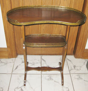 Late 19th Cent French Small Side Table W Bronze Ormolu