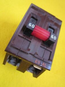 Wadsworth Circuit Breaker 60 Amp Double Pole 120 240 Vac Issue Kj187