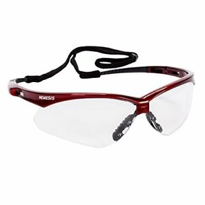 Jackson Safety 47378 Nemesis Safety Glasses Anti fog Lenses With Inferno red Fr