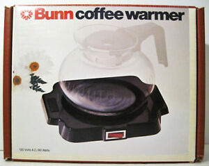 Vintage New Bunn Bunn o matic Single Burner Coffee Warmer Model Bcw Mib 60w Mint