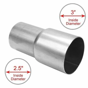 2 5 2 1 2 Id To 3 3 Inch Id Universal Exhaust Pipe To Pipe Adapter Reducer