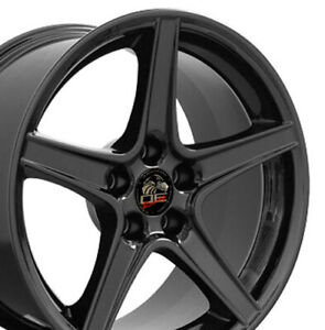 18x10 18x9 Rims Fit Mustang Saleen Style Black Wheels Set