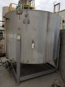 2 100 Gallon Stainless Steel Reactor Vessel 1 Psig 300 f