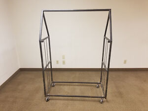 Small Metal Rolling Clothing Racks