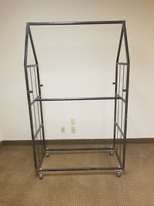 Large Metal Rolling Clothing Racks