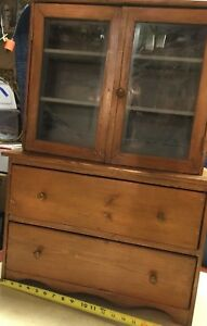 Antique Rare Mini Cupboard Hoosier Cabinet Hutch Handmade Pick Up Only