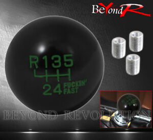 For Eagle Pontiac Mt Interior 6 Speed Shift Knob Thread Adapter Ball Type Green