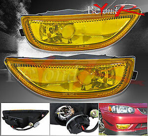 2001 2002 Toyota Corolla Amber Lens Fog Lights L e d Day Time Running Drl Lamp