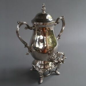 Antique Vtg F B Rogers Silver Company 1883 Plated Coffee Urn Samovar 16 Tall