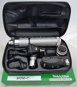 Welch Allyn Diagnostic Set 97250 c With 71000 c Handle And 25020 11720 Heads