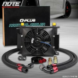 30 Row Universal Engine Transmission 10 An Oil Cooler 7 Electric Fan Kit