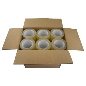 Case 36 Rolls Clear Sealing Tape 48mm X 100m Carton Box Storage Shipping Moving
