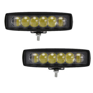 2x 6 3 Inches Off Road 18w Cree Led Fog Lamp Work Light Bar Suv 4x4 Jeep 4wd Drl