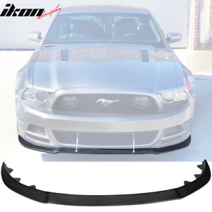 Fits 13 14 Ford Mustang Gt Style Front Bumper Lip Spoiler Unpainted Black Pu