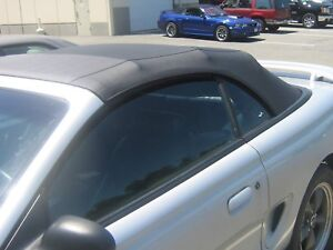 Ford Mustang Convertible Soft Top Non Heated Glass Window Sailcloth Fits 94 04