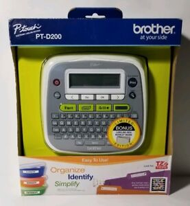 Brother P touch Electronic Label Maker System Pt d200 Thermal Label Printer New