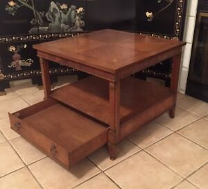 Mid Century Modern Baker Furniture Usa Wood Side End Table Home Deco Vintage Art