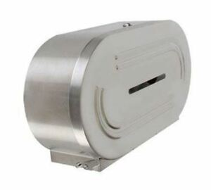 Twin Dual Stainless Steel Metal Toilet Paper Roll Dispenser
