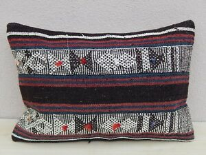 16 X 24 Unique Large Mudcloth Kilim Lumbar Pillow Cover Throw Cushions